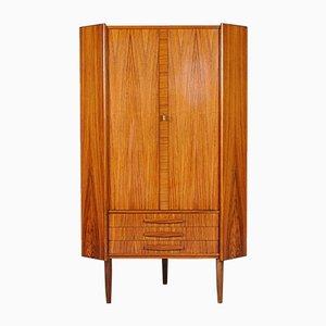 Danish Modern Brazilian Rosewood Corner Cabinet, 1960s