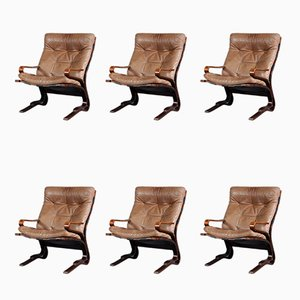 Lounge Chairs by Oddvin Rykken for Rykken & Co, 1970s, Set of 6