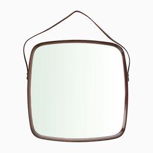 Italienischer Mid-Century Spiegel mit Rahmen aus Holz, 1960er