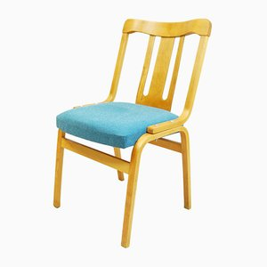 Vintage Czech 240 Beech Chair from TON, 1950s