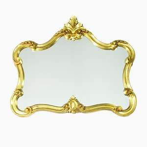 German Caserta Louisiana Mirror in Gold-plated Frame by Domiko, 1970s