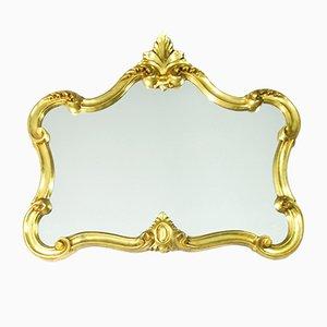 Specchio Caseta Louisiana in metallo dorato di Domiko, Germania, anni '70