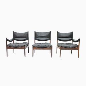 3-Sitzer Sofa mit hoher Rückenlehne von Kristian Solmer Vedel für Søren Willadsen, 1963