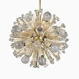 Brass Dandelion Ceiling Lamp by Emil Stejnar for Rupert Nikoll, 1950s