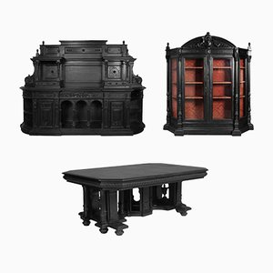 18th Century Ebonized Carved Walnut Display Cabinet by Andrea Palladio