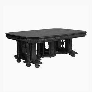 Tavolo da pranzo rinascimentale in legno di noce intagliato ed ebanizzato di Andrea Palladio, XVIII secolo