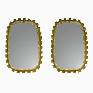 Miroirs Illuminés de Hillebrand, 1960s, Set de 2