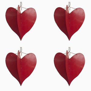 Decorative Hearts, 1990s, Set of 4