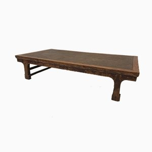 Table Basse Vintage en Teck et Rotin