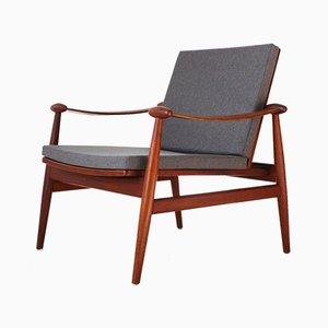 Mid-Century FD133 Easy Chair by Finn Juhl for France & Daverkosen