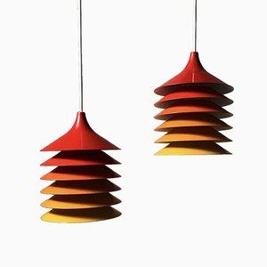 Lámparas de techo Duetts de Bent Gantzel Boysen para Ikea, años 70. Juego de 2