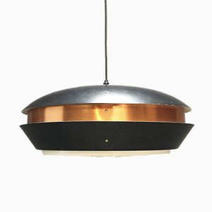 Vintage Danish Copper Ceiling Light