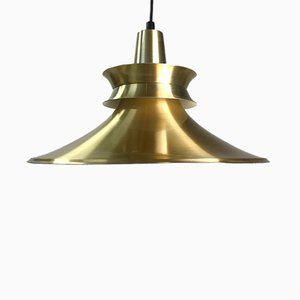 Danish Brass Ceiling Light from Lyskær Belysning, 1970s