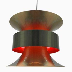 Lampada da soffitto Mid-Century in ottone di Carl Thore per Granhaga Metal, Svezia