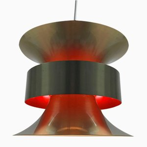 Mid-Century Swedish Brass Ceiling Light by Carl Thore for Granhaga Metal