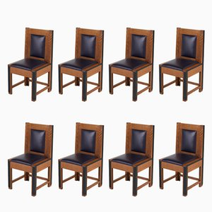 Art Deco Oak Chairs from Randoe, 1926, Set of 8