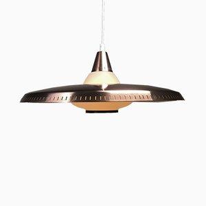 Deckenlampe aus Kupfer & Opalglas von Lyfa, 1960er