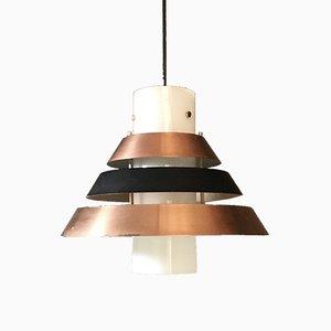 Geometrische Vintage Deckenlampe aus Kupfer