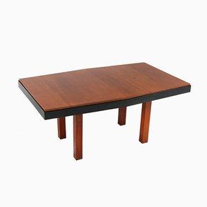 Teak Haagse School Extendable Table by Toko v/d Pol Semarang, 1920s