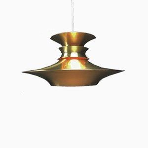Lampada da soffitto vintage in ottone di Bent Nordsted per Lyskaer, Danimarca
