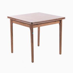 Kleiner ausziehbarer quadratischer Tisch, 1960er