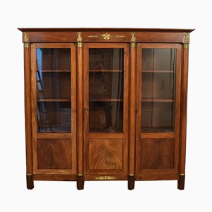 Antique French Empire Mahogany Display Cabinet