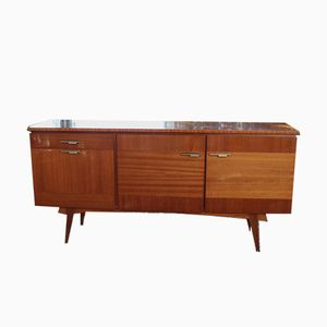 Scandinavian Varnished Teak Sideboard, 1950s