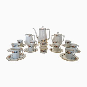 Limoges Porcelain Coffee Set by Robert Haviland, 1930s