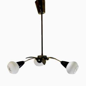 Lámpara de araña vintage con tres brazos