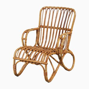 Mid-Century Rattan Children's Chair