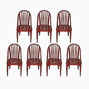 Stühle aus Mahagoni von Josef Hoffmann für Thonet, 7er Set