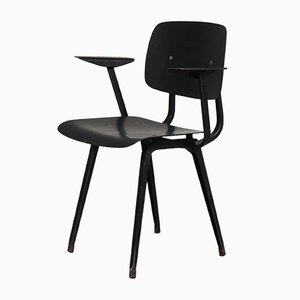 Mid-Century Black Revolt Chair by Friso Kramer for Ahrend De Cirkel