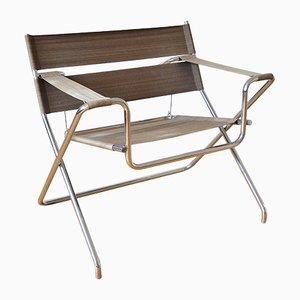 Klappbarer Vintage Modell D4 Stahlrohrstuhl von Marcel Breuer für Tecta