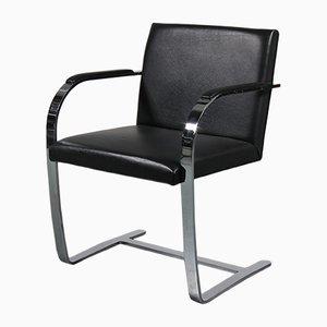 Sedia Brno nera di Ludwig Mies van der Rohe per Knoll, anni '60