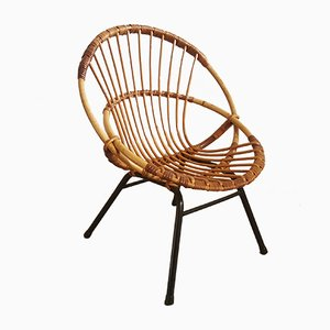 French Rattan Children's Chair, 1950s