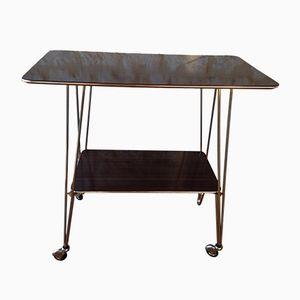 Mesa auxiliar vintage de formica con ruedas, añso 60