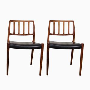 Model 83 Dining Chairs by Niels O. Møller for J.L. Møllers, 1974, Set of 2