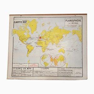 Mapa geográfico de Francia vintage años 50