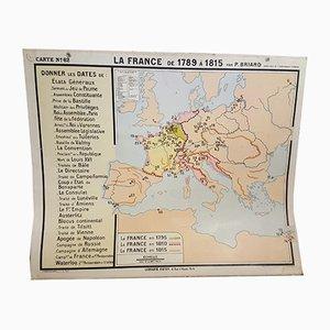 Mapa nº 62 francés, años 50