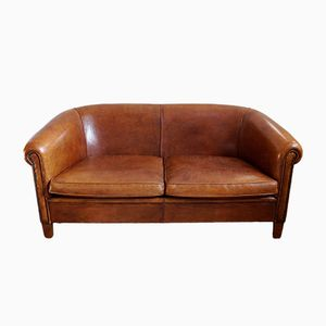 Vintage Sheep Leather Sofa from Lounge Atelier