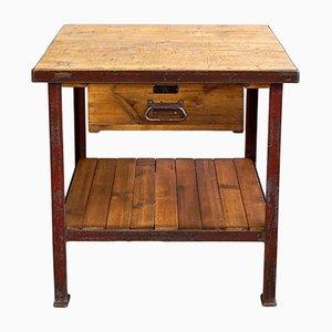 Vintage Industrial Side Table, 1930s