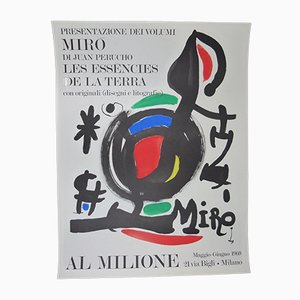 Póster Les Essencies de la Terra de Joan Miró, 1969
