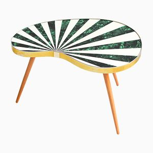 Vintage Striped Kidney Table or Plant Stand, 1960s