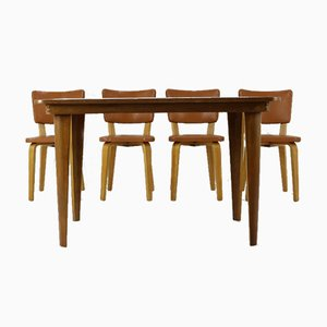 Vintage Plywood Dining Room Set by Cor Alons & J.C. Jansen for Gouda den Boer, 1950s