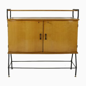 Vintage Italian Lacquered Elm Sideboard, 1950s