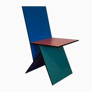 Sedia Vilbert multicolore di Verner Panton per Ikea, 1993