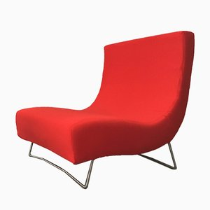 Rotes Vintage Lover Sofa oder Chaiselongue von Pascal Mourgue für Ligne Roset, 1980er