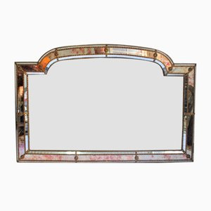 Hollywood Regency Oil Drop Mosaic Wall Mirror, 1970s