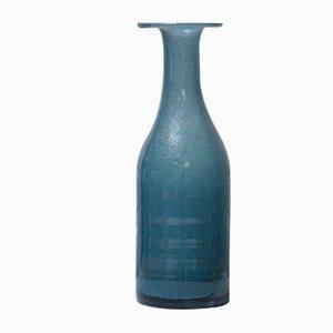 Blaue Vintage Vase von Erik Höglund für Kosta Boda, 1952