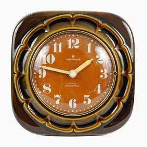 Deutsche Vintage Uhr aus Keramik von Junghans, 1970er